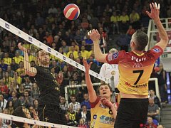 Volejbalisté Brna porazili Liberec 3:1 a vyrovnali finále na 2:2.