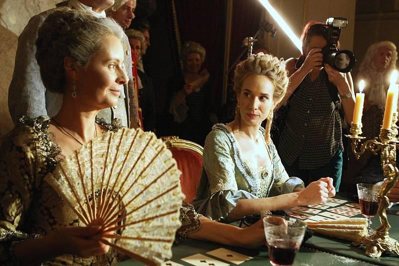 Natáčení Marie Terezie v brněnském Mahenově divadle.