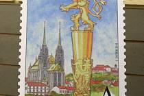 Křest poštovní známky ke stému výročí brněnské Masarykovy univerzity.