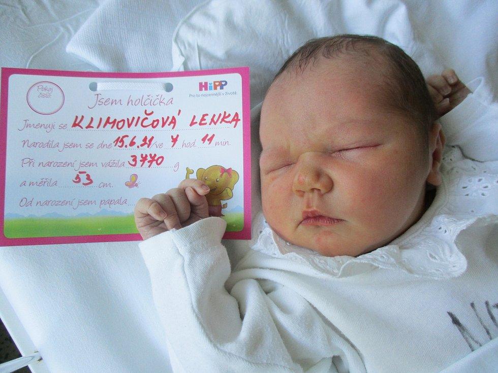 Lenka Klimovičová, 15. června 2021, Břeclav, Nemocnice Břeclav, 3770 g, 53 cm