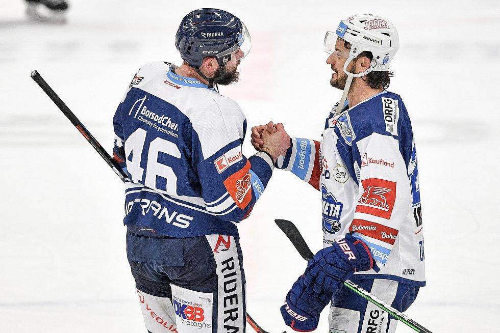 Utkání předkola play off hokejové extraligy - 5. zápas: HC Vítkovice Ridera - HC Kometa Brno, 16. března 2021 v Ostravě. (zleva) Roman Polák z Vítkovic.