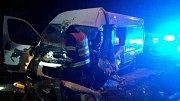 Tragická nehoda osobního auta a dodávky u brněnské zoo.