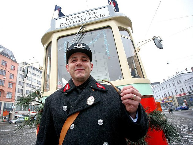 Betlémská tramvaj vyjela do brněnských ulic.
