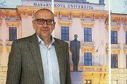 Brno 15.04.2019 - Rozhovor na konci týdne s rektorem brněnské Masarykovy univerzity Mikulášem Bekem.