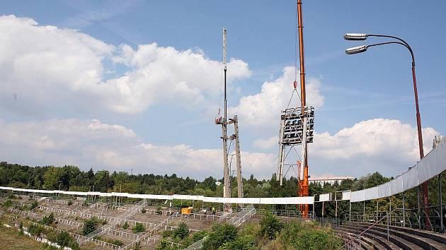 Fotbalový stadion za Lužánkami.
