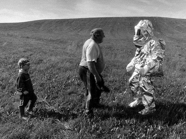 Fotografování vesnického života se Jindřich Štreit věnuje od roku 1972. Snímek je z Bruntálska.