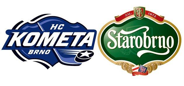 Nové logo hokejové Komety  je inspirováno tvarem symbolu jeho nového generálního partnera Starobrna.