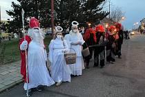 Mikulášskou obchůzku si užili v sobotu lidé v Ivančicích a Oslavanech.