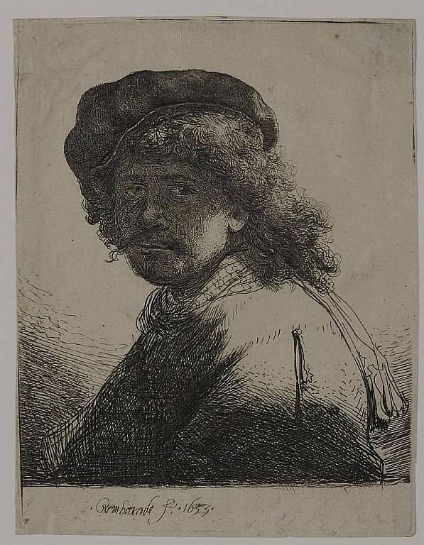 Vlastní podobizna Rembrandta van Rijna.