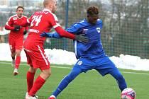 Jak do skupiny C zimní Tipsport ligy vstoupili, tak ji také fotbalisté Zbrojovky (v červeném) zakončili. V posledním zápase na umělé trávě v brněnské Líšní zdolali prvoligovou slovenskou Nitru 3:1.