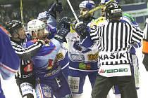 První zápas play off Brno versus Chomutov