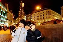 Vánoční trhy na náměstí Svobody v Brně.