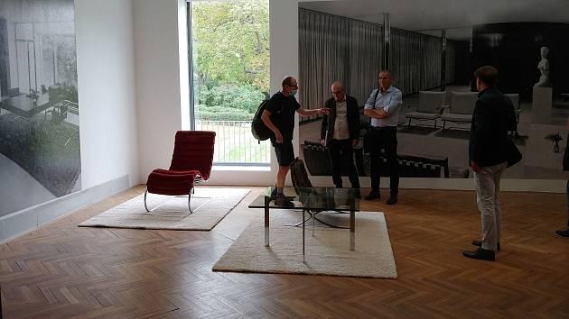 Výstava Mies v Brně/Villa Tugendhat v Domě umění města Brna.