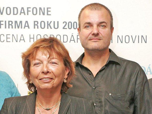 Magda Živná – Živnostník roku 2009 a Roman Zavadil firma TOP Moravia Q.