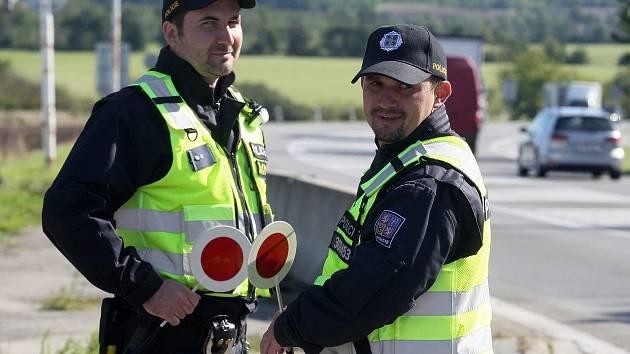 Cvičení Policie ČR v Mikulově pro případné obnovení kontrol hraničních přechodů.
