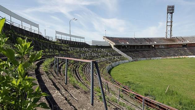Fotbalový stadion za Lužánkami v Brně - ilustrační fotografie.