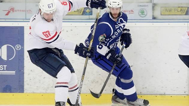 Kometa Brno se utkala se Slovanem Bratislava.
