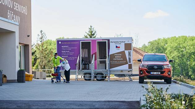 Setkávač. Na výstavišti bude sloužit hlavně pro uzdravující se pacienty, aby se mohli bezpečně vidět se svými příbuznými.