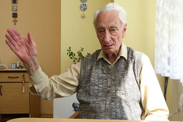 Radoslav Sáblík, 90let, výzkumný pracovník, za války pracoval vbrněnské Zbrojovce