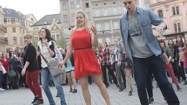 Stepařský flash mob v Brně.