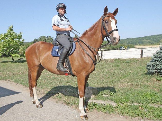 """Členové jízdní policie musí být dobří policisté a zároveň dobří jezdci. """"Skloubit to dohromady je někdy problém,"""" říká Libor Blažek."""