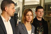 Petr Hladík (KDU-ČSL), Markéta Vaňková (ODS) a Petr Koláčný (Piráti).