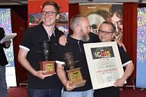 Vítězové z Norska při slavnostním vyhlášení výsledků soutěže ohňostrojů Ignis Brunensis 2019
