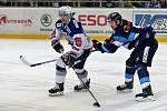HC Kometa Brno v bílem (Jan Hruška) proti Bílým Tygrům Liberec (Ladislav Šmíd)