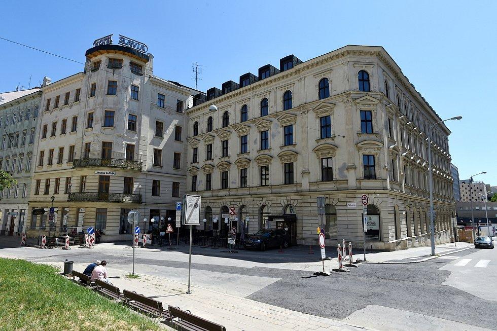 Hotel Slavia v Brně.