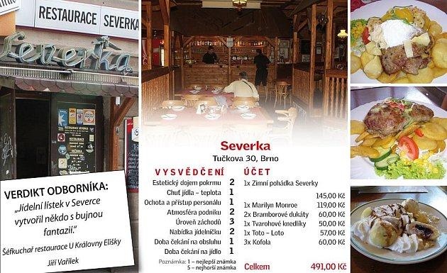 Restaurace Severka - hodnocení.