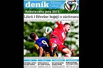 Titulní strana fotbalové přílohy.