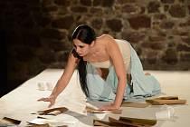 Scéna i kostým, za kterými stojí Pavla Kamanová, stejně jako režijní cit Aleše Bergmana umožňují divákům soustředit veškerou pozornost a důraz na Fridu v podání Evy Ventrubové.