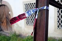 Jungmannova ulice v Tišnově, kde v jednom z rodinných domů došlo k útoku nožem