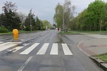 Kritický přechod v brněnské Seifertově ulici.