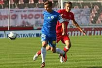 Brněnští fotbalisté v pátém kole nejvyšší české soutěži podlehli na domácím hřišti Liberci 0:1. Jediný gól vstřelil z přímého kopu Sergej Rybalka.