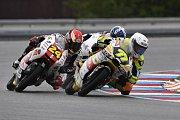 Monster Energy Grand Prix České republiky 2017, Moto 3 - 24 Tatsuki Suzuki a 77 Tim Georgi.