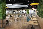 Na jaře začne přestavba brněnského obchodního centra Futurum. Plocha pro obchody a služby se rozšíří o tři tisíce metrů čtverečních. Vizualizace: architektonické studio ARCHI JAM
