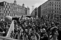 Dělnická strana v Brně na náměstí Svobody. Ilustrační foto