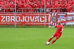 29. kolo F:NL: Prostějov (modro-bílá) - Zbrojovka (červená - Peter Štepanovský) 0:0