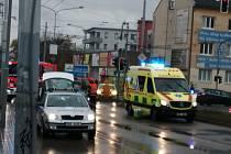 V brněnských Černovicích srazil řidič padesátiletého chodce.