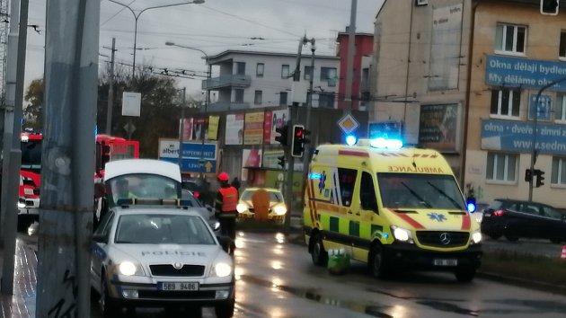 Nehoda v brněnské Tržní ulici.