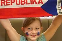 Český národní tým podporovali fanoušci v restauracích nejen po celé jižní Moravě.