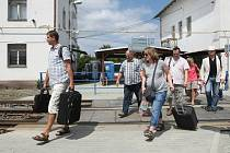 Výluková situace na dolním nádraží v Brně.