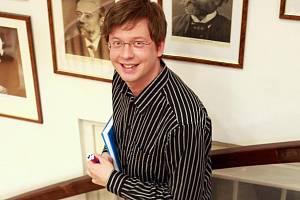 Spisovatel a moderátor Aleš Cibulka.