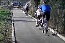 Cyklostezka ze Slatiny do Šlapanic.