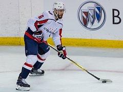 Bývalý hokejista Komety Brno Michal Kempný v dresu Washingtonu Capitals.