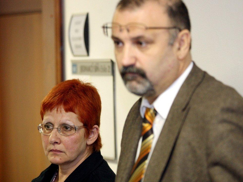 Renáta Škrlová s advokátem Barbory Richardem Novákem.