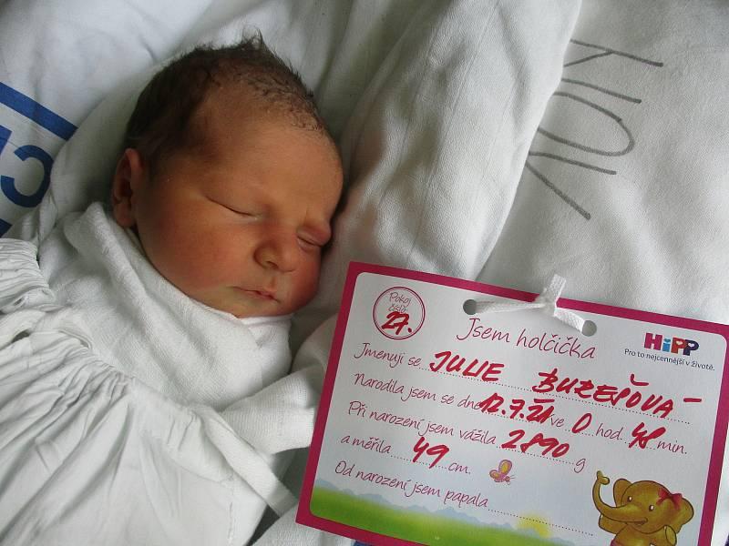 Julie Burešová, 12. 7. 2021, Brumovice, Nemocnice Břeclav, 2890 g, 49 cm