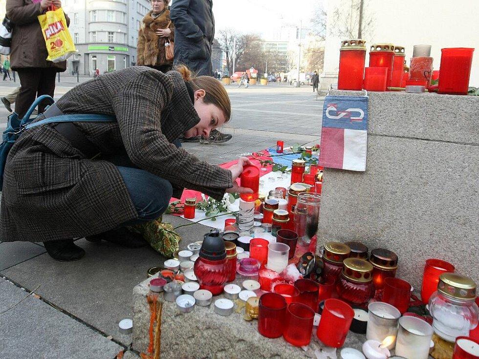 Pieta za zesnulého exprezidenta Václava Havla v Brně.