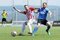 Blanensko (v modrém) v jarním utkání na hřišti Brno zvítězilo 4:2.